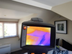 Leaking roof detected during a Thermal Camera Inspection