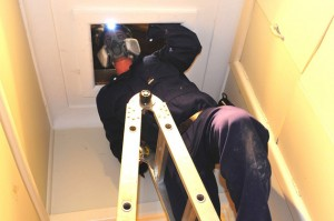 We inspect the entire roof space during a building inspection